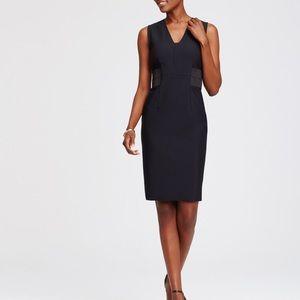 Ann Taylor stretch dress w elastic waist sheath